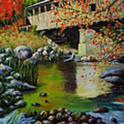 Covered Bridge Poster by Suni Roveto