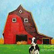 Cow And Barn 4 Poster