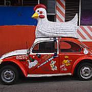 Cowboy Chicken Poster
