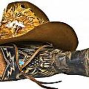 Cowboy Hat And Boot Poster