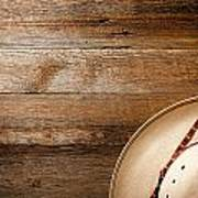 Cowboy Hat On Wood Poster