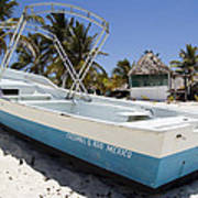 Cozumel Mexico Fishing Boat Poster