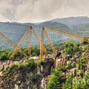 Crane On The Mountain Poster
