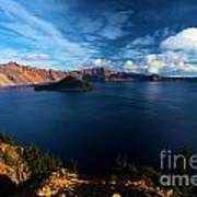 Crater Lake Minus Trees Poster