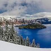 Crater Lake Panorama 1 Poster
