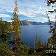 Crater Lake Through The Trees Poster