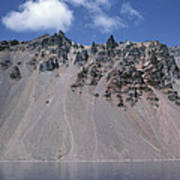 Crater Lake Volcanic Wall, Usa Poster by Dr Juerg Alean