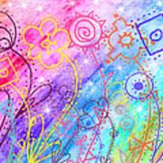 Crazy Flower Garden Poster