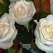 Creamy Roses II Poster