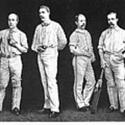 Cricket Players, 1889 Poster