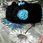 Crochet Camera Bw Poster