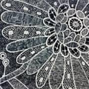 Crochet Flower Poster by Salwa  Najm
