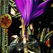 Crocus In A Bottle Poster