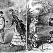 Croquet, 1873 Poster