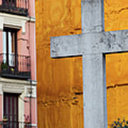 Cross In The City Of Madrid Poster