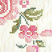 Cross Stitch Flower 1 Poster