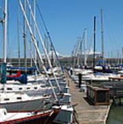 Cruise Ship And Sailboats Pier 39 Poster