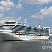 Cruise Ships At Cruiseport Boston Poster