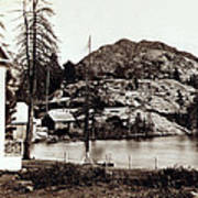 Crystal Lake And Black Butte - California - C 1865 Poster