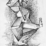 Cubist Man Poster