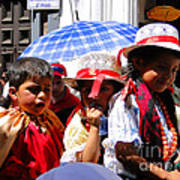 Cuenca Kids 187 Poster by Al Bourassa