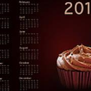 Cupcake Calendar 2013 Poster by Jane Rix