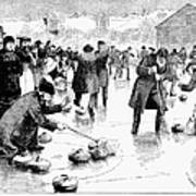 Curling, 1884 Poster