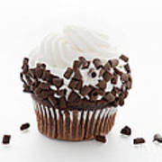 Curly Q Chocolate Cupcake Poster