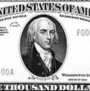 Currency: 5,000 Dollar Bill Poster