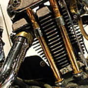 Custom Motorcycle Chopper . 7d13318 Poster by Wingsdomain Art and Photography