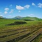 Cut Turf On A Landscape, Connemara Poster