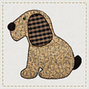 Cute Country Style Gingham Dog Poster by Tracie Kaska