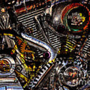 Cyberpunk Harley-davidson Modified In Abstract . 7d12658 Poster by Wingsdomain Art and Photography
