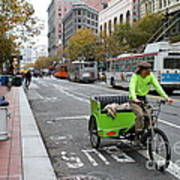 Cycle Rickshaw On Market Street In San Francisco Poster