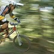 Cycling On Stoner Mesa, Colorado Poster