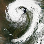 Cyclone Over Lake Michigan Poster