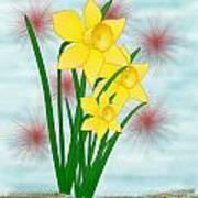 Daffodills Poster