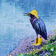 Damn Rain Poster by Tracey Tilson