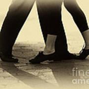 Dance Practice Poster by Leslie Leda