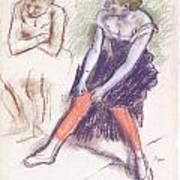 Dancer With Red Stockings Poster