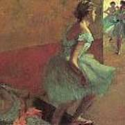 Dancers Climbing A Stair Poster by Edgar Degas