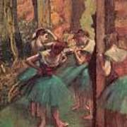 Dancers Pink And Green Poster by Edgar Degas