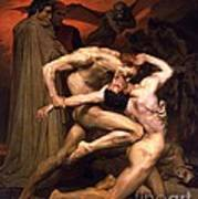 Dante And Virgil In Hell Poster