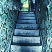 Dark Staircase With Man At Top Poster