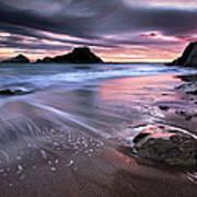 Dark Sunrise On Hidden Bay Poster