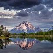 Darkening Skies Over Oxbow Bend Poster