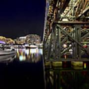 Darling Harbor At Night Poster