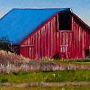 Darst Barn On West Beach Road Poster