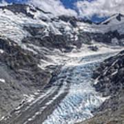Dart Glacier Above Cascade Saddle Mount Poster