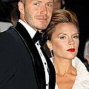 David Beckham And Victoria Beckham Poster by Everett